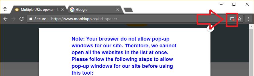 chrome allow pop-up windows